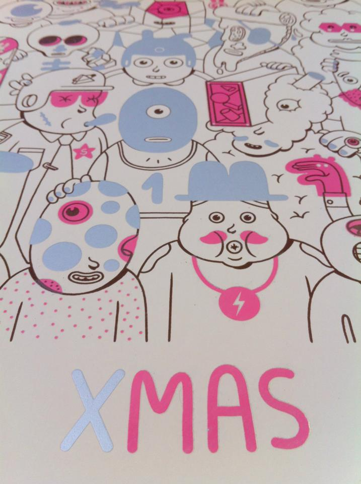 Detalle lámina Brosmind & Art Plus serigrafía XMAS