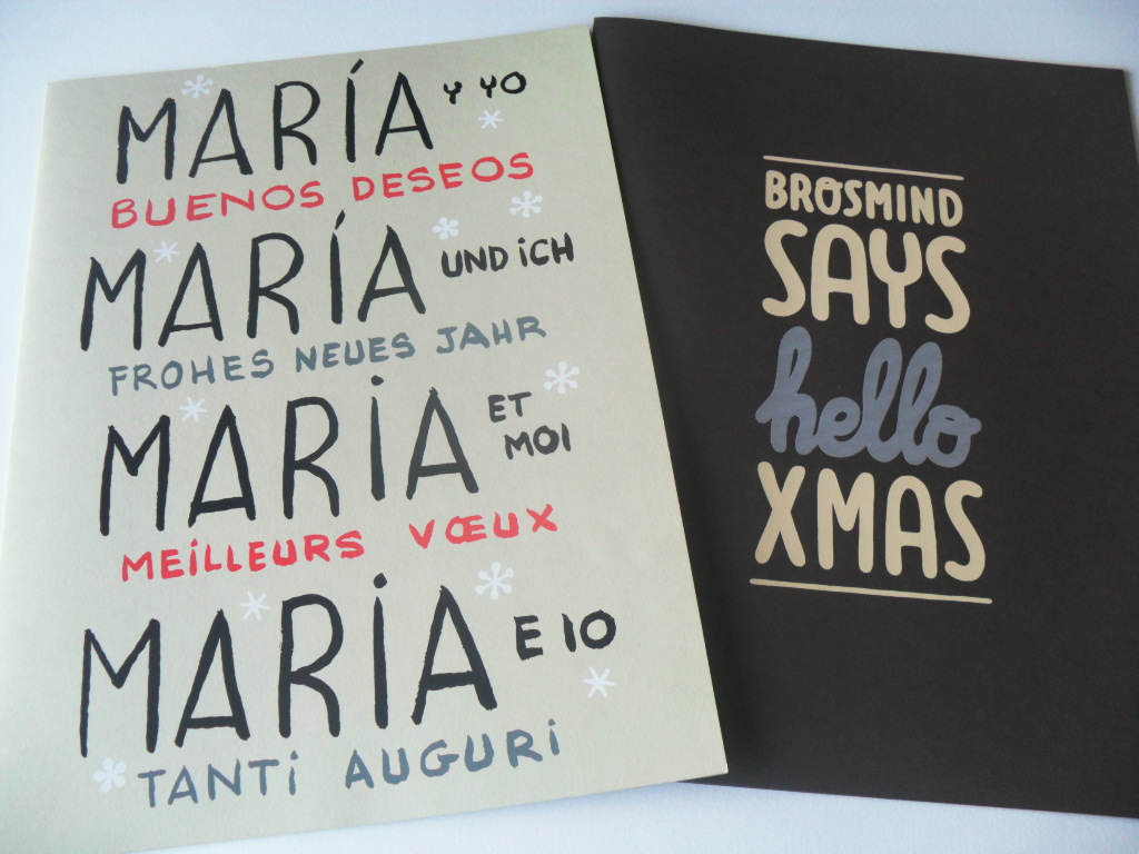 Carpetas felicitaciones de Navidad Miguel Gallardo - Art Plus y Brosmind - Art Plus