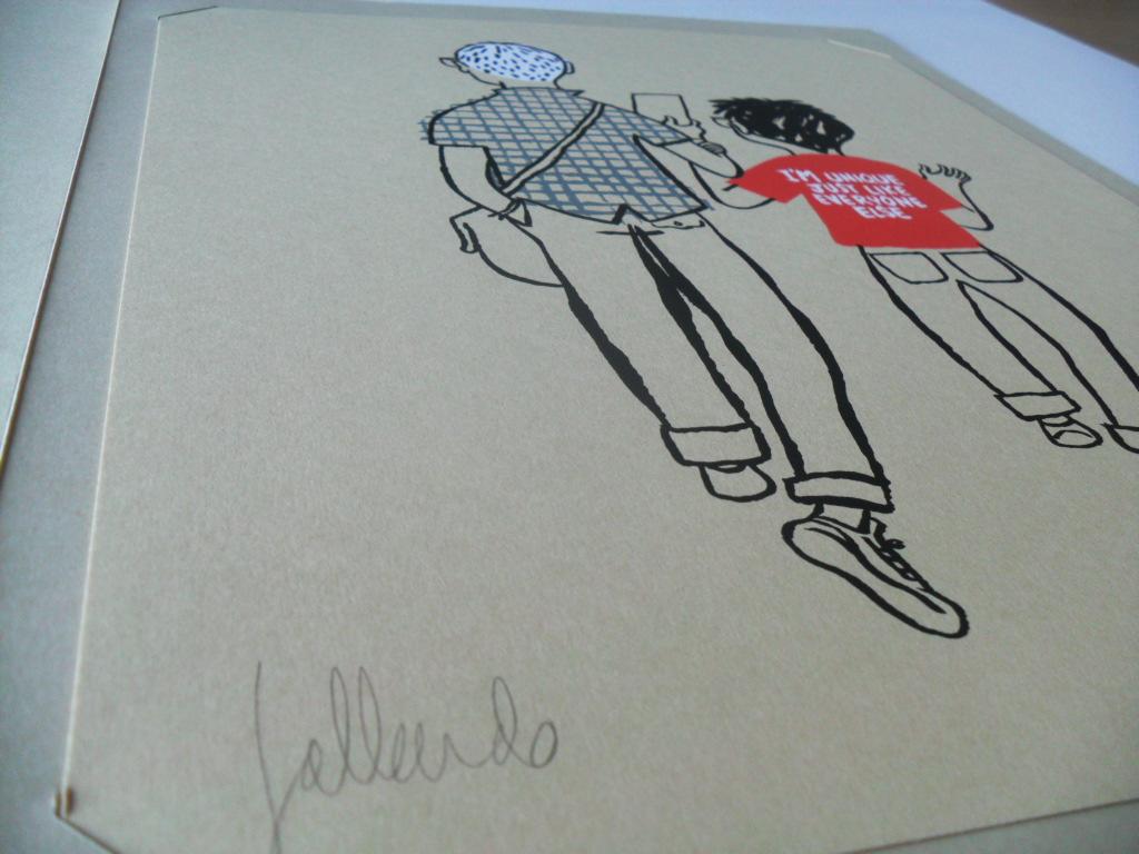 Felicitación de Navidad Miguel Gallardo - Art Plus portada libro María y yo