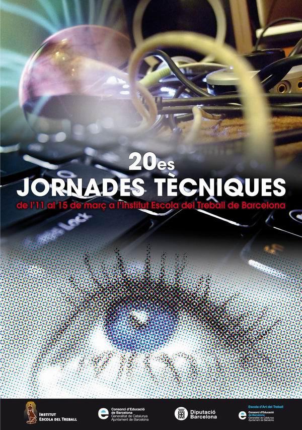 Cartel de las XX Jornades Tècniques organizadas por la Escola del Treball de Barcelona en la que ha participado Art Plus Serigrafía