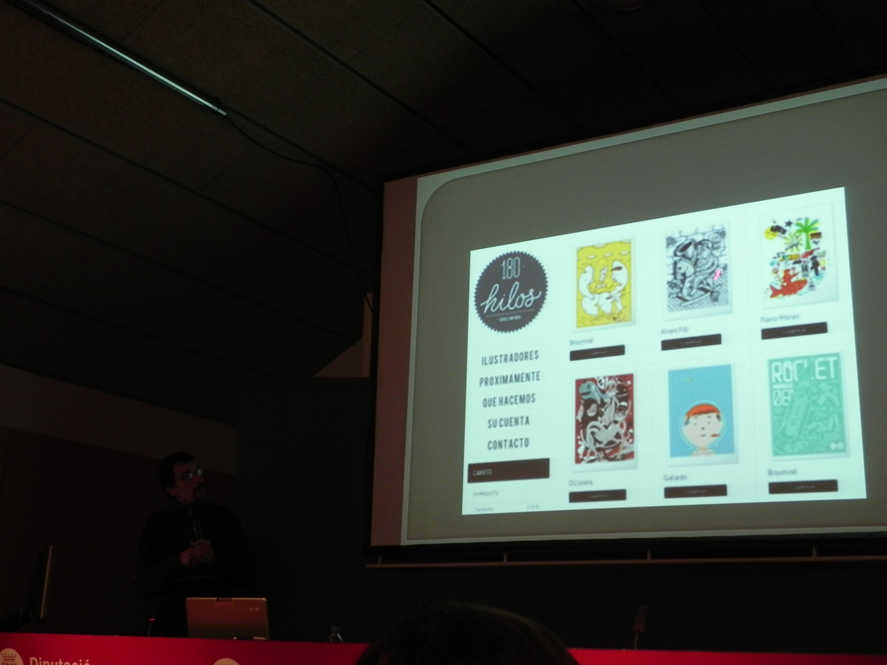 Conferencia de José Mª Hernando de Art Plus Serigrafía durante las XX Jornades Tècniques organizadas por la Escola del Treball titulada Serigrafía artística 180hilos