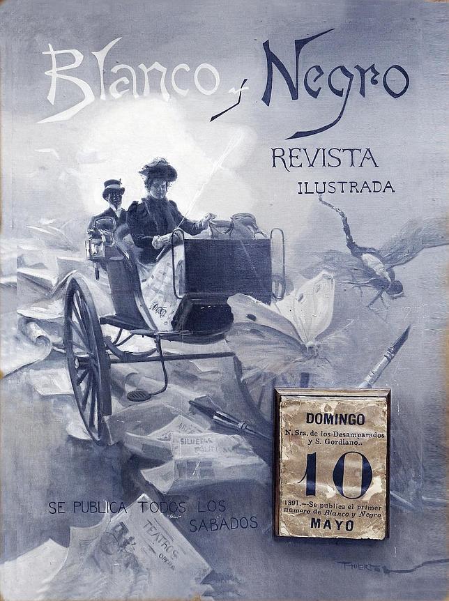 1ª portada de la revista Blanco y Negro realizada por Ángel Díaz Huertas