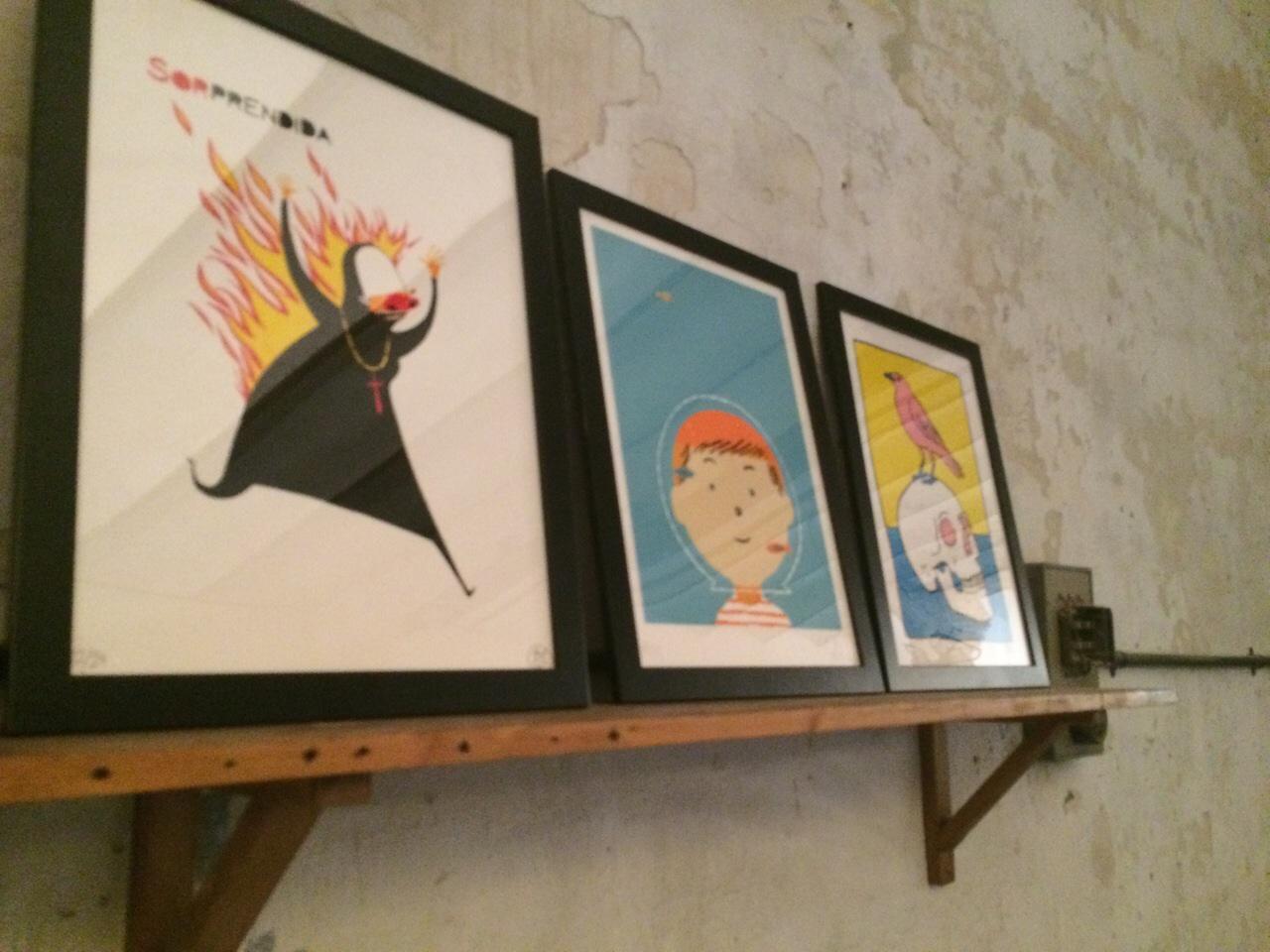 Las serigrafías de 180Hilos en el espacio creativo L'Endoll